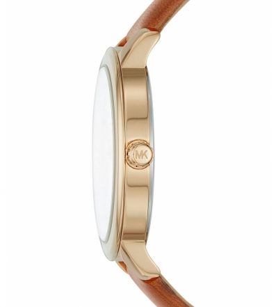 Michael Kors Hartman Gold-Tone And Leather Watch