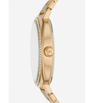 Michael Kors Nia Pavé Gold-Tone Watch