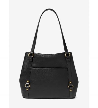 MICHAEL Michael Kors Carrie Large Pebbled Leather Shoulder Bag