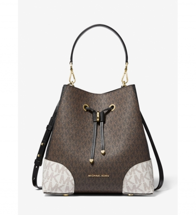 MICHAEL Michael Kors Mercer Gallery Medium Color-Block Logo Shoulder Bag