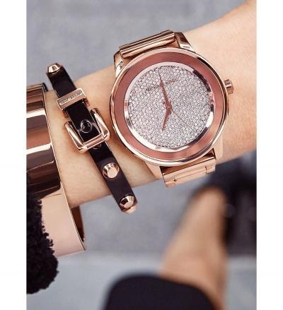 Michael Kors  Kinley Pavé Rose Gold-Tone Watch