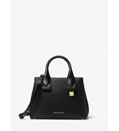 MICHAEL Michael Kors Rollins Small Snake-Embossed Leather Satchel