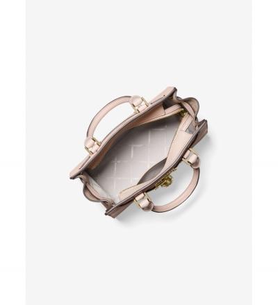 MICHAEL Michael Kors Nouveau Hamilton Small Pebbled Leather Satchel