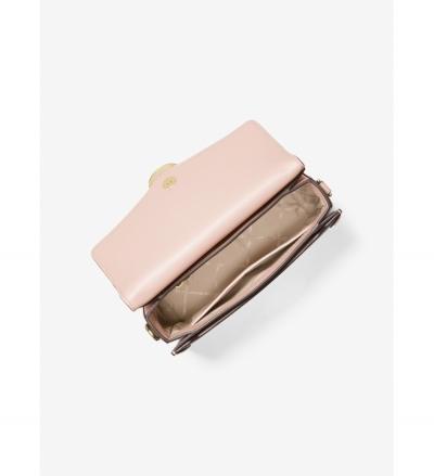 MICHAEL Michael Kors Jessie Medium Logo and Leather Shoulder Bag