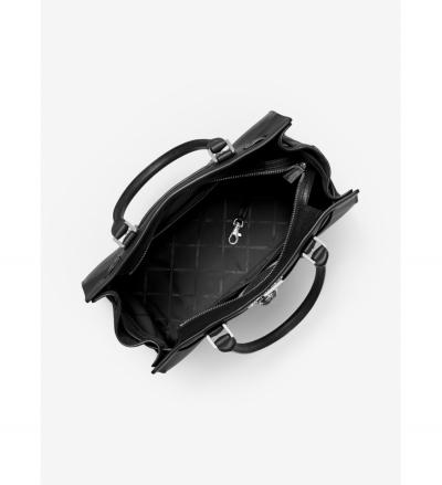MICHAEL Michael Kors Nouveau Hamilton Large Pebbled Leather Satchel