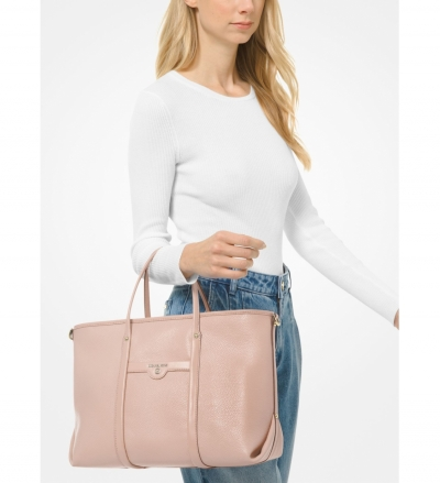 MICHAEL Michael Kors Beck Medium Pebbled Leather Tote Bag