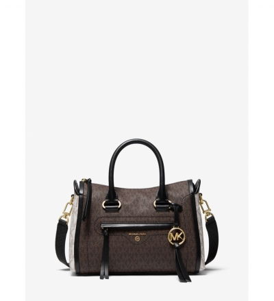 MICHAEL Michael Kors Carine Small Tri-Color Logo Satchel