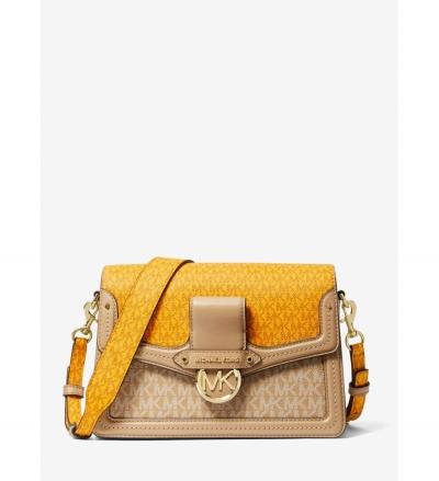 MICHAEL Michael Kors Jessie Medium Two-Tone Logo Shoulder Bag