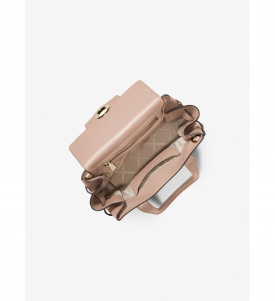 MICHAEL Michael Kors Carmen Small Color-Block Saffiano Leather Belted Satchel