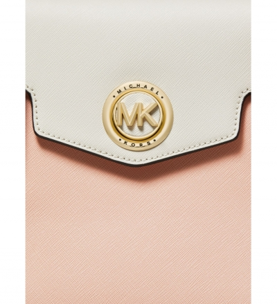 MICHAEL Michael Kors Carmen Small Color-Block Saffiano Leather Belted Satchel