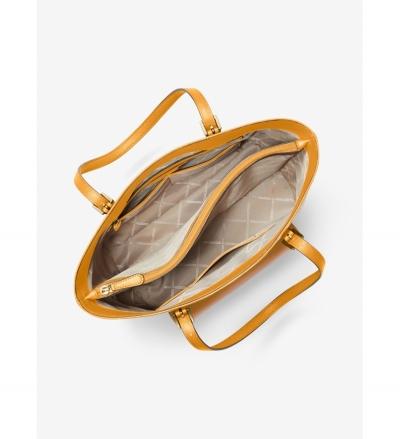 MICHAEL Michael Kors Jet Set Large Leather Pocket Tote Bag