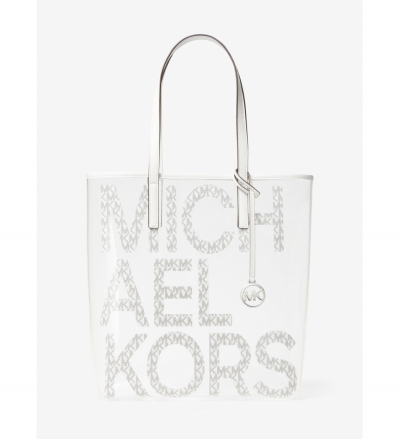 MICHAEL Michael Kors The Michael Large Graphic Logo Clear Tote Bag