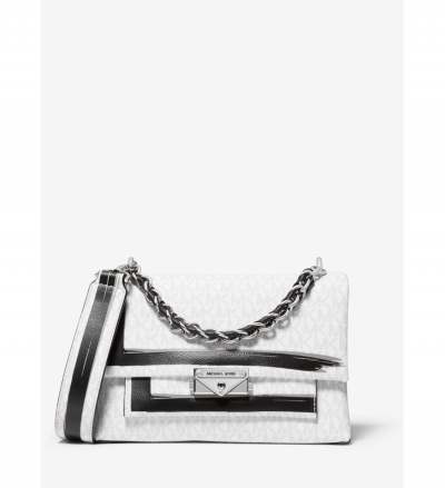 MICHAEL Michael Kors Cece Medium Logo Painterly Stripe Shoulder Bag