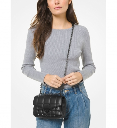 MICHAEL Michael Kors SoHo Small Studded Quilted Leather Shoulder Bag