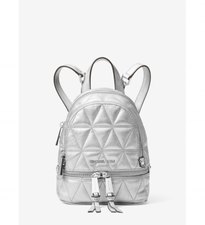 MICHAEL Michael Kors Rhea Mini Metallic Quilted Leather Backpack
