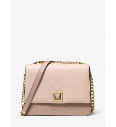 MICHAEL Michael Kors Sylvia Medium Tri-Color Crossgrain Leather Crossbody