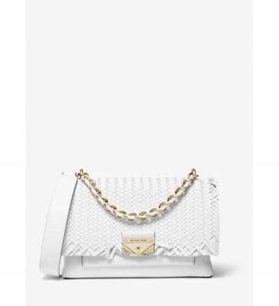 MICHAEL Michael Kors Cece Medium Woven Leather Shoulder Bag