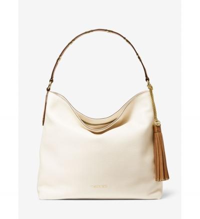 MICHAEL Michael Kors Brooklyn Large Two-Tone Pebbled Leather Shoulder Bag