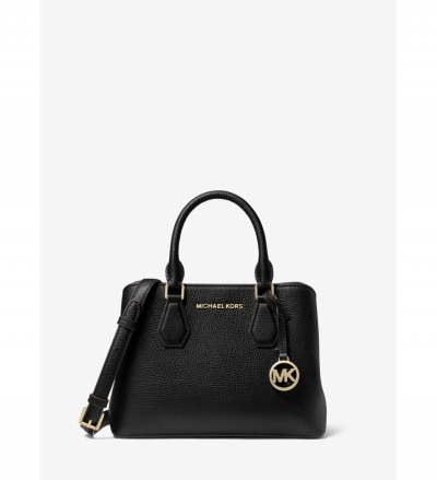 MICHAEL Michael Kors Camille Small Pebbled Leather Satchel
