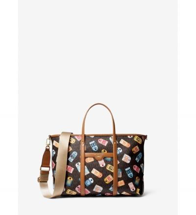 MICHAEL Michael Kors Beck Medium Printed Logo Tote Bag