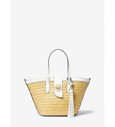 MICHAEL Michael Kors Malibu Small Straw Tote Bag