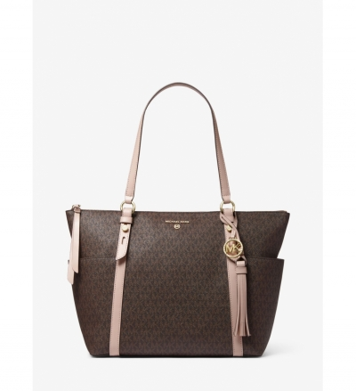MICHAEL Michael Kors Sullivan Large Logo Top-Zip Tote Bag
