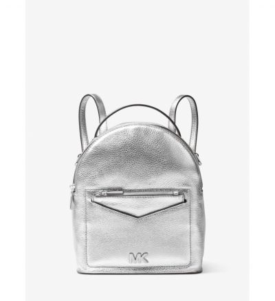 MICHAEL Michael Kors Jessa Small Metallic Pebbled Leather Convertible Backpack