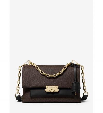 MICHAEL Michael Kors Cece Medium Logo and Leather Shoulder Bag