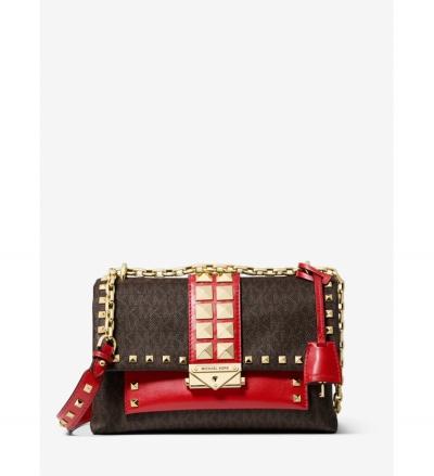 MICHAEL Michael Kors Cece Medium Studded Logo and Leather Convertible Shoulder Bag