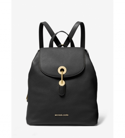 MICHAEL Michael Kors Raven Medium Pebbled Leather Backpack