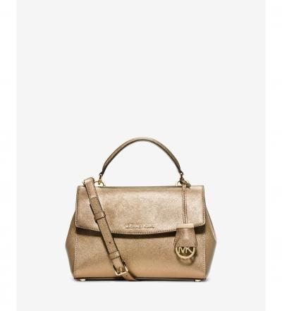 MICHAEL Michael Kors Ava Small Saffiano Leather Satchel