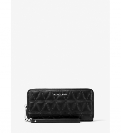 MICHAEL Michael Kors Jet Set Travel Quilted-Leather Continental Wristlet