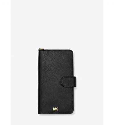 MICHAEL Michael Kors Saffiano Leather Wristlet Folio Case for iPhone XS Max