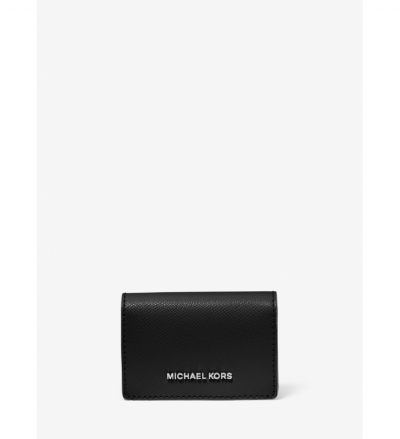 MICHAEL Michael Kors Small Two-Tone Crossgrain Leather Wallet