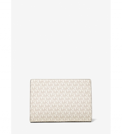 MICHAEL Michael Kors Medium Logo Stripe Zip Pouch