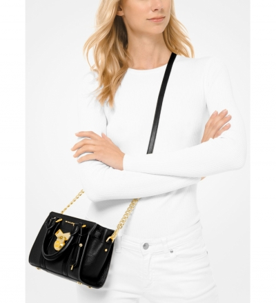 MICHAEL Michael Kors Nouveau Hamilton Extra-Small Pebbled Leather Crossbody Bag
