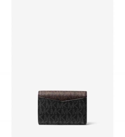 MICHAEL Michael Kors Small Two-Tone Logo Wallet