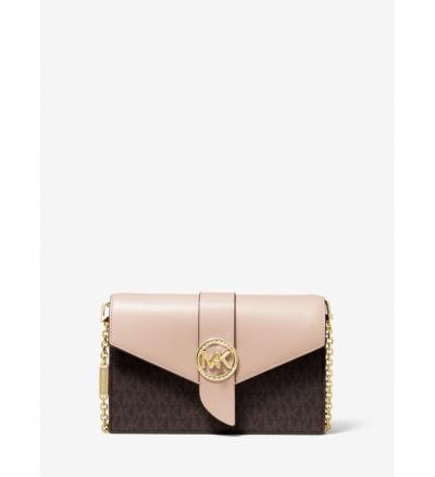 MICHAEL Michael Kors Medium Logo and Leather Convertible Crossbody Bag