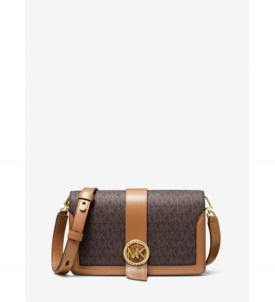 MICHAEL Michael Kors Medium Logo and Leather Crossbody Bag