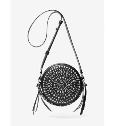 MICHAEL Michael Kors Delancey Medium Studded Leather Canteen Crossbody Bag