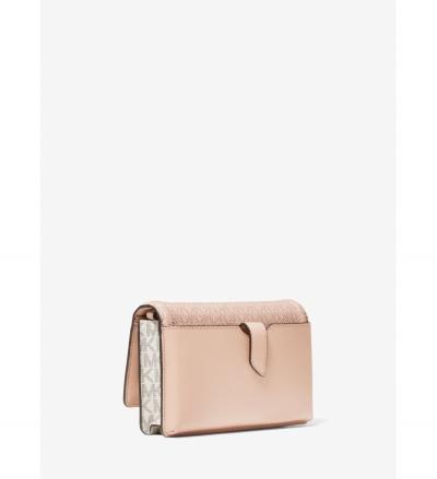 MICHAEL Michael Kors Jet Set Small Two-Tone Logo Smartphone Crossbody Bag
