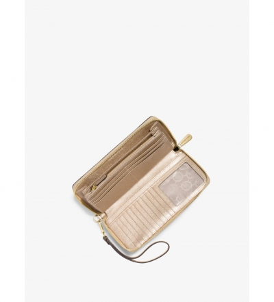 MICHAEL Michael Kors Jet Set Travel Metallic Leather Continental Wallet