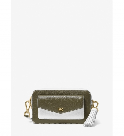 MICHAEL Michael Kors Small Two-Tone Pebbled Leather Camera Bag