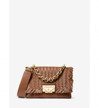 MICHAEL Michael Kors Cece Extra-Small Woven Leather Crossbody Bag