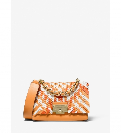 MICHAEL Michael Kors Cece Extra-Small Color-Block Woven Leather Crossbody Bag
