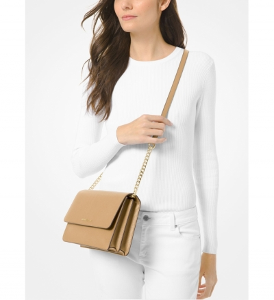 MICHAEL Michael Kors Daniela Large Saffiano Leather Crossbody Bag