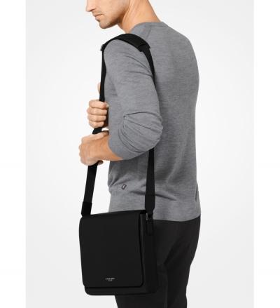 Michael Kors Mens Harrison Medium Leather Messenger Bag