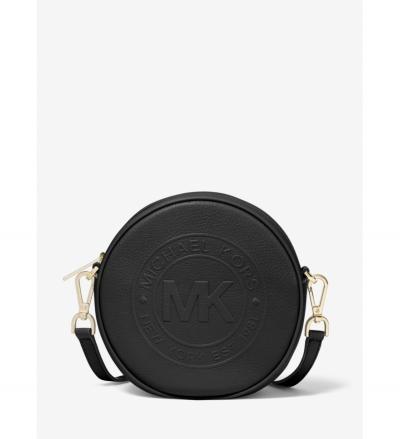 MICHAEL Michael Kors Fulton Small Logo Debossed Leather Canteen Crossbody Bag