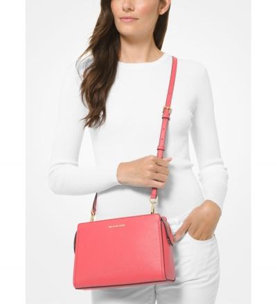 MICHAEL Michael Kors Leslie Medium Saffiano Leather Crossbody Bag
