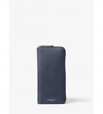 Michael Kors Mens Harrison Leather Zip-Around Wallet